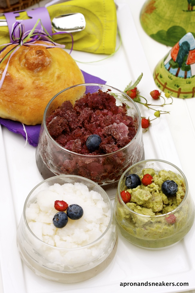 ... Sicilian Summer Breakfast: Tris di Granita con Brioche @Rowena Dumlao