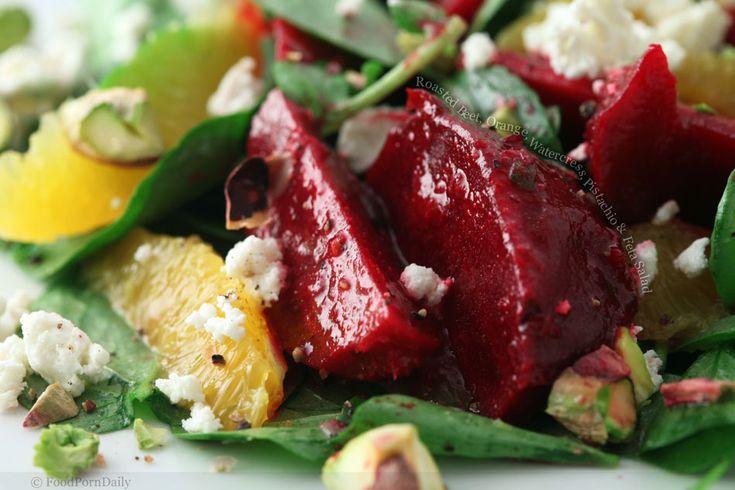 roasted beet salad   Eating Veggies   Pinterest