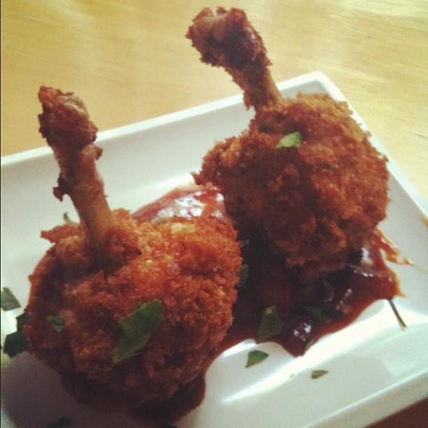 Chicken Lollipop with Spicy BBQ sauce | My Kitchen Creations | Pinter ...