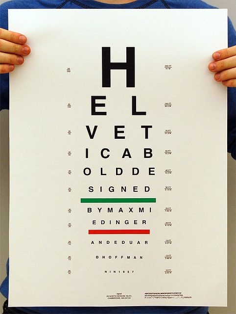 type specimen vision testing helvetica typography pinterest
