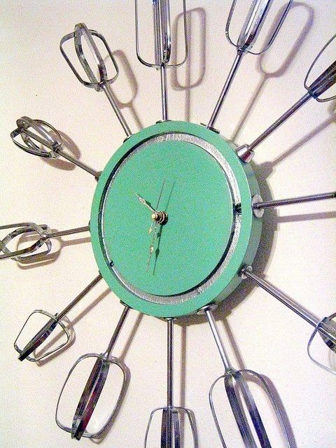 Cool Kitchen Clock Objects Pinterest