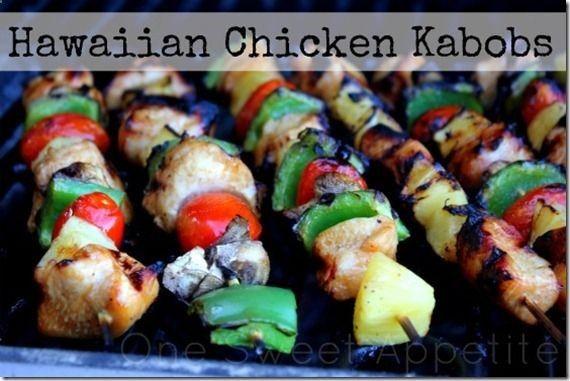 Hawaiian chicken kabobs | Cool Camping Ideas | Pinterest