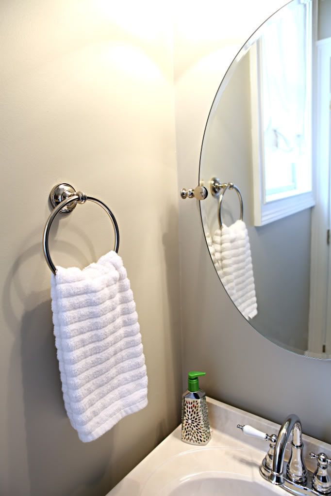 Towel Ring Over Outlet Basement Bathroom Pinterest