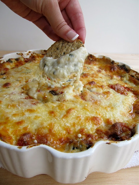White Pizza Dip: Oven roasted sea salted tomatoes are mixed with some ...