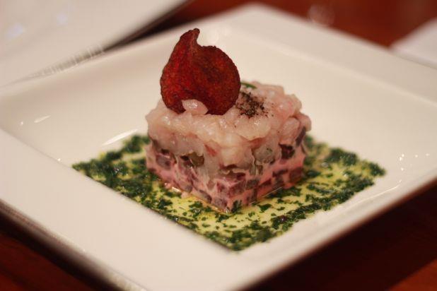 ... Biscotti #restaurant - King Fish Tartare, Beetroot, Black Olives