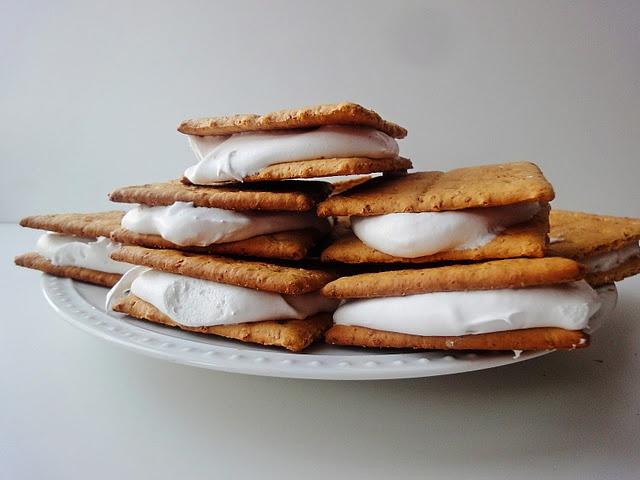 "Graham cracker ""ice cream"" sandwich   Mostly Healthy Food & Dri..."