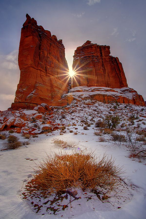 Winter In The Arches by Kevin McNeal, via 500px; Arches National Park, Utah