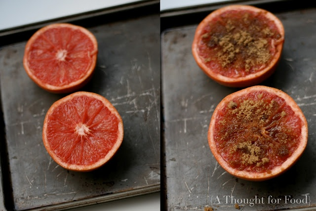 ... with breakfast - Caramelized Grapefruit with Brown Sugar and Ginger