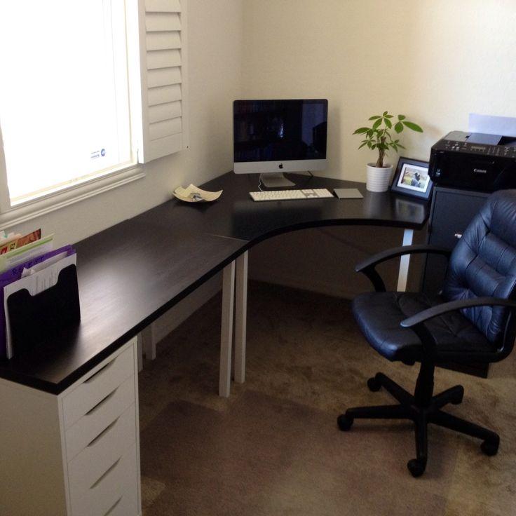 home office ikea desk home pinterest