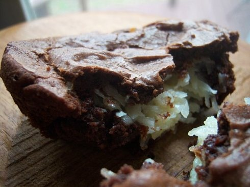 brownies with gooey coconut filling ] | swaree. | Pinterest