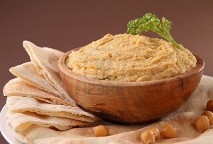Hummus and pita bread | YUM YUM | Pinterest
