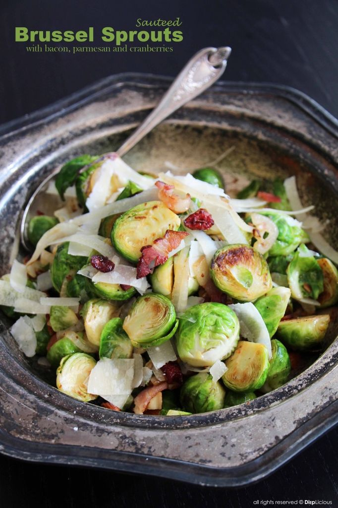 SAUTEED BRUSSELS SPROUTS || Thanksgiving Recipe from DiepLicious.com