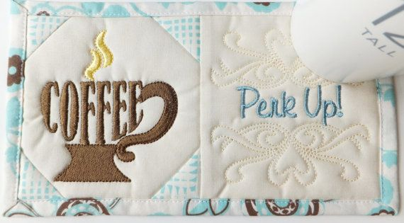 Mug rug embroidery designs sc091d and sewing instructions in pdf
