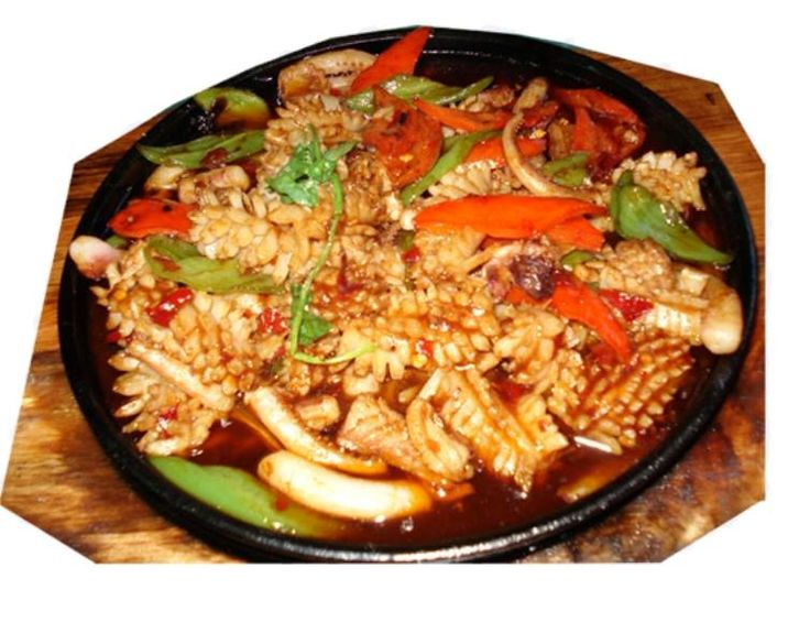 Блюда из кальмаров пошаговый рецепт с