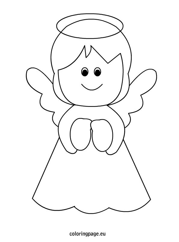 printable christmas coloring pages angels - photo#22