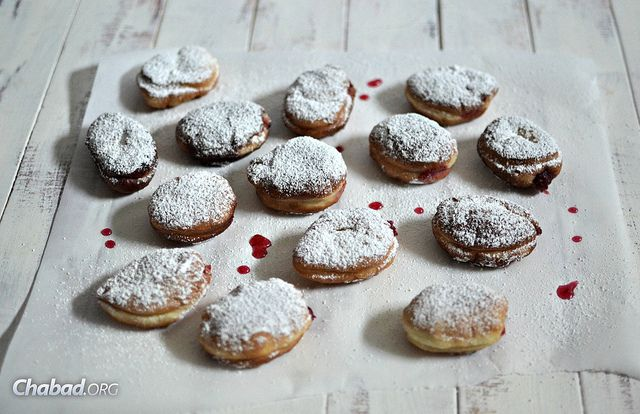 Jewish Jelly Doughnuts: Sufganiyot with Cranberry Jam | features a ...