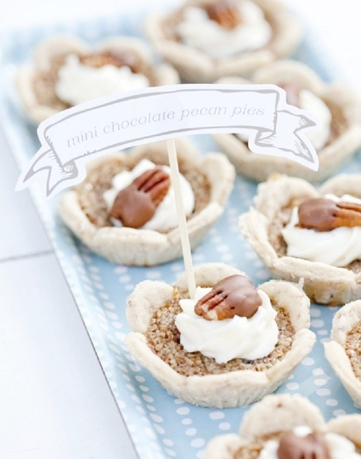 Mini Chocolate Pecan Pies | cool | Pinterest