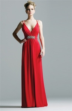 Floor-length Reds Chiffon V-neck Homecoming Dress Style Code: 00768 $84