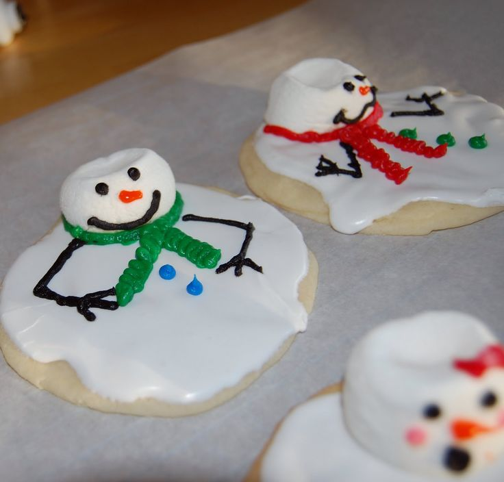 Melted snowman christmas cookies..so cute!