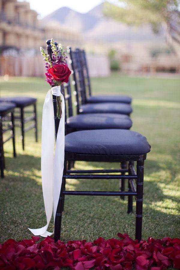 Flower Chair Decor Wedding Ceremony