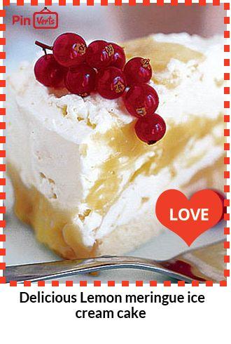 Lemon meringue ice cream cake... This looks and tastes so good people ...