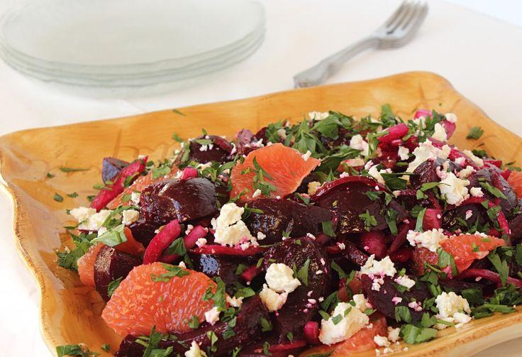 Roasted Beet, Grapefruit and Feta Salad