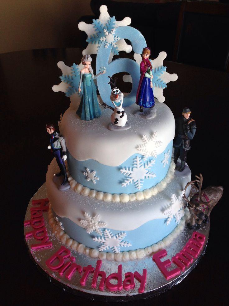 Disney Frozen Birthday Cake Julianas 5th Party Pinterest