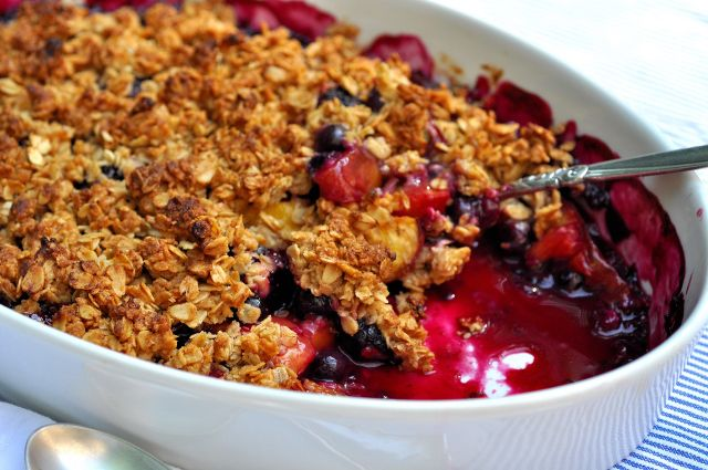 More like this: berries , nectarines and mixed berry crisp .