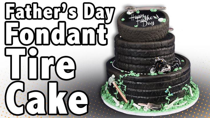 How to make a Fondant Tire Cake