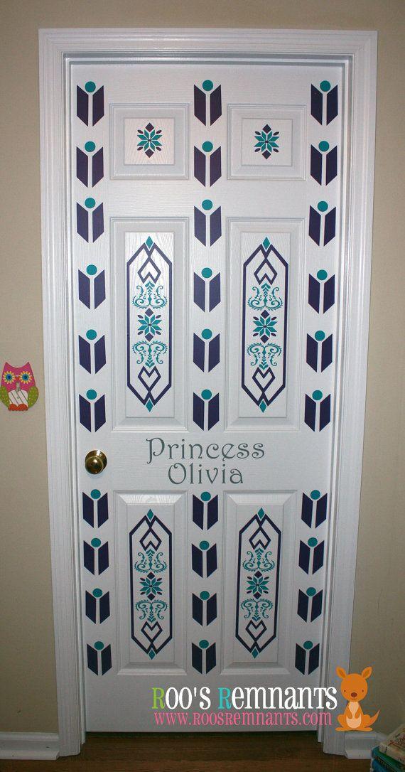 Frozen inspired elsa bedroom door decor kit perfect for for Bedroom door decoration ideas