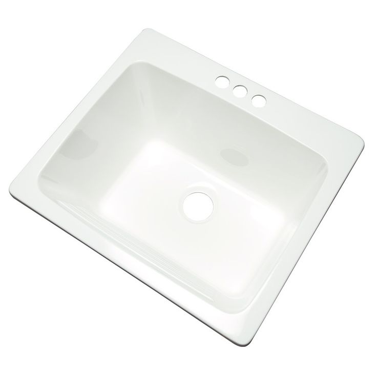 84 Shop Project Source White Composite Laundry Sink at Lowes.com