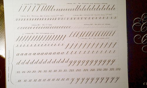 Practice From Eleanor Winters 39 Book Mastering Copperplate