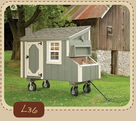 Portable Chicken Coop Chickens Pinterest