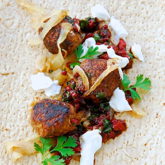 Lamb Kofte with Yogurt Sauce and Muhammara, wake up your tired taste ...