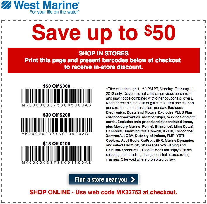 West marine coupon code