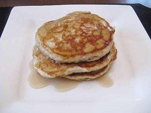Whole Grain Apple Oatmeal Pancakes