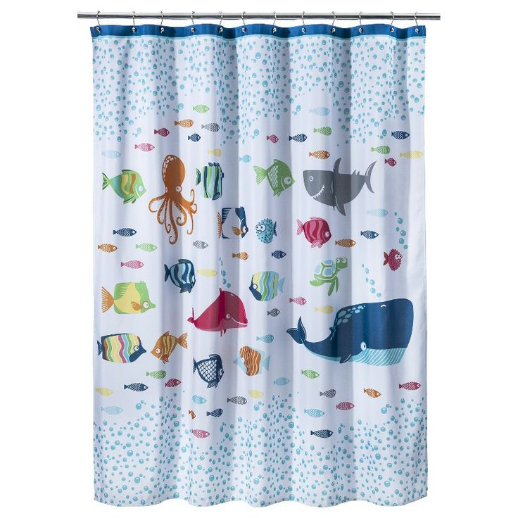 Curtains Ideas target kids shower curtain : Circo® Fish Shower Curtain-kids bathroom - curtain Santi chose for ...