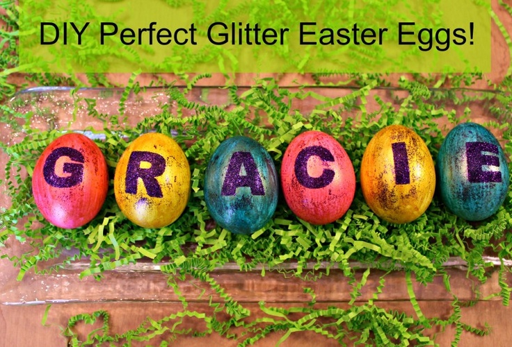 Perfectly glittered Easter eggs | Easter | Pinterest