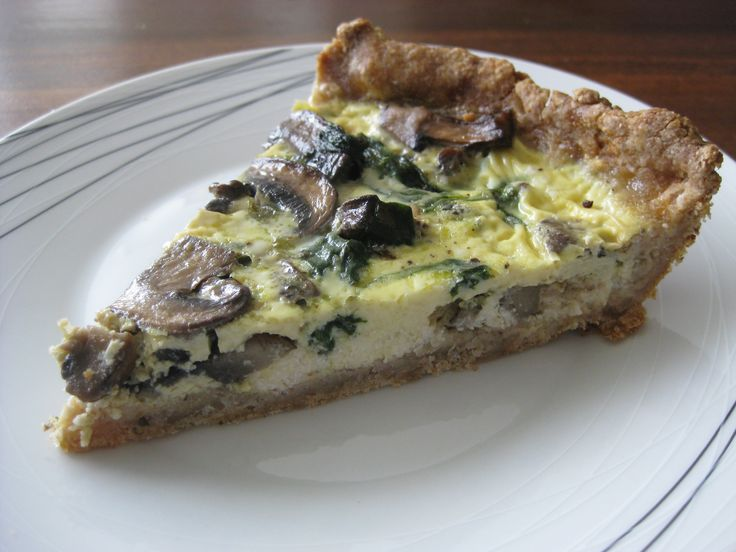 Spinach, Crimini, and Goat Cheese Quiche | Food | Pinterest