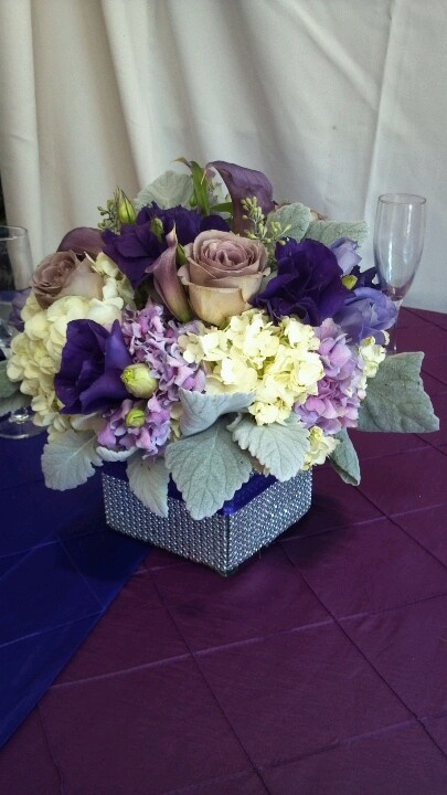 Purple and silverPurple And Silver Wedding Flowers
