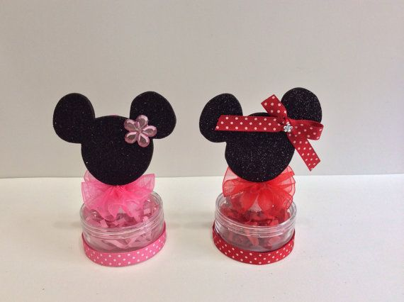 mickey and minnie mouse favors for a party or by marshmallowfavors