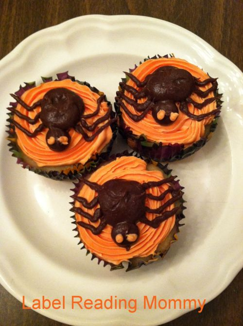 Halloween Spider cupcakes | Halloween Crafts and Spooky Treats | Pint ...