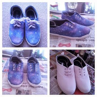 Beauty by a Geek: Galaxy Print shoes