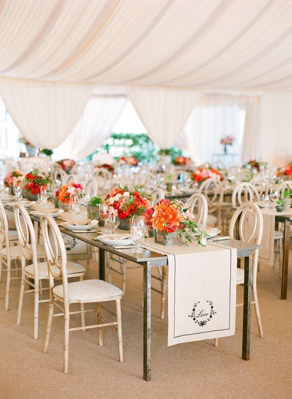 Custom ebroidered   Decor  table wedding Pinterest  pinterest Wedding runners table runners.