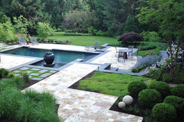 Modern landscaping and pool landscaper extraordinaire for Modern pool landscaping