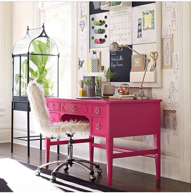 Teen bedroom desk space interior decor my room pinterest