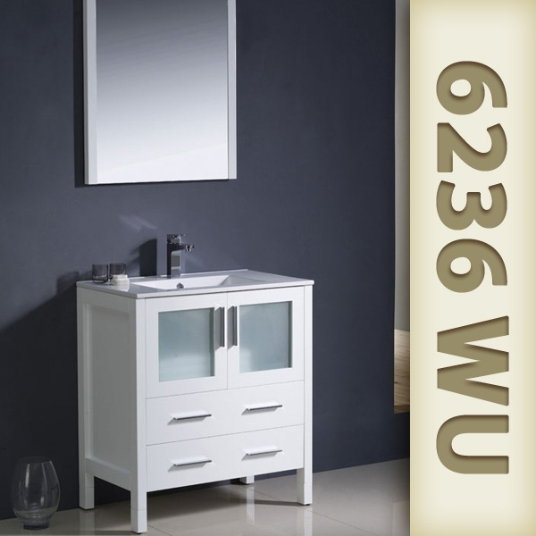 36 inch fresca torino contemporary white bathroom vanity w under