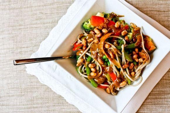 Peanut Sauce Noodles | Vegetarian Eatin' | Pinterest