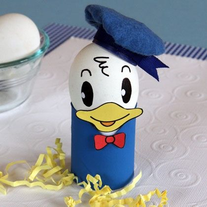 Donald Duck Easter Egg plus 9 more Disney egg ideas from Spoonful.com!