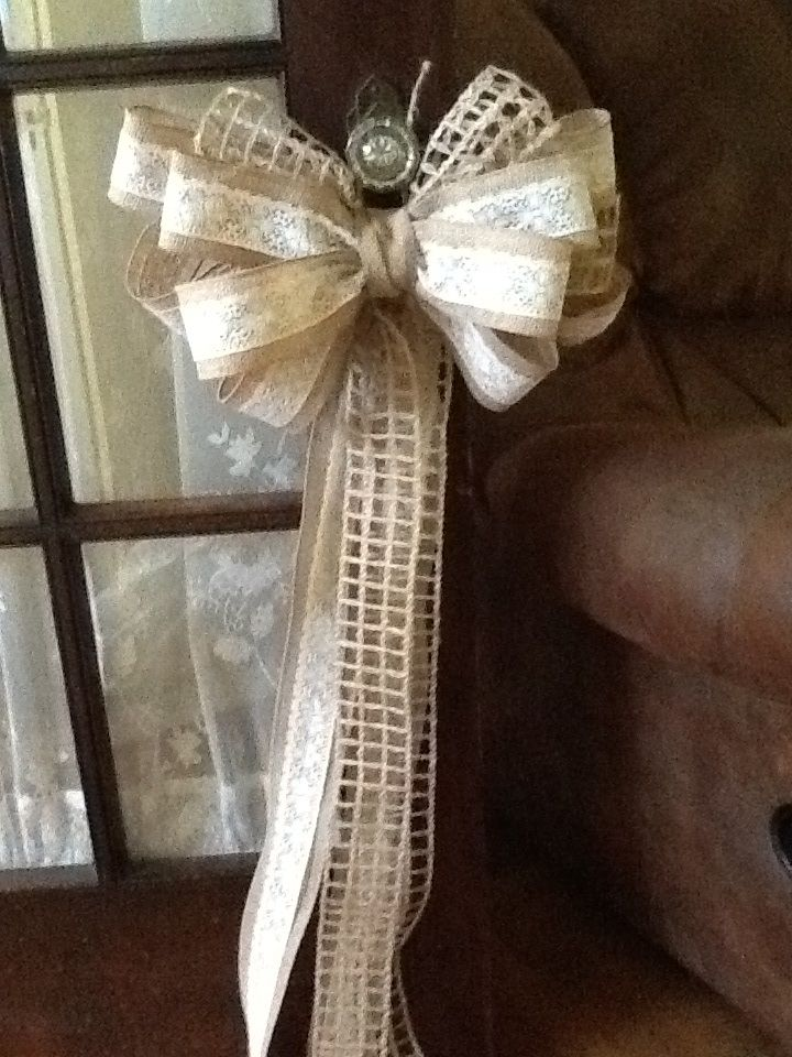 Diy Wedding Bow Decorations : Bows for pews my daughter s diy wedding
